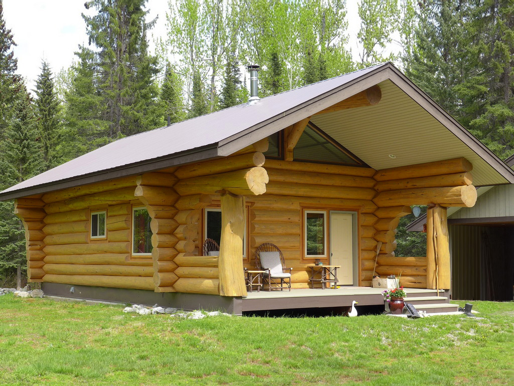 Bc log homes and log cabins for sale canada horsefly for Acreage home builders