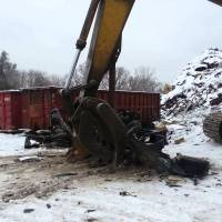 Watch this Dodge Viper GTS get crushed to death by a giant claw (disturbing content)