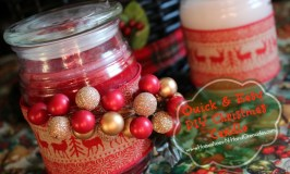 Quick & Easy DIY Christmas Candle