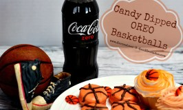 Delicious Candy Dipped OREO Basketball Party Treats