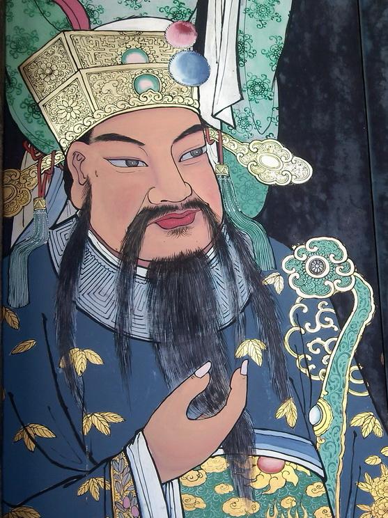 detail on door to han jiang temple georgetown