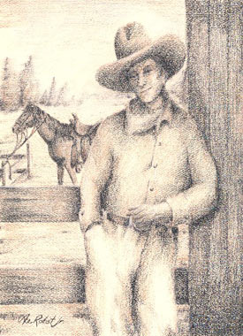 Frank Litts, drawn by Ace Robst Jr, husband of Julie Litts Robst, a relative of Frank's.