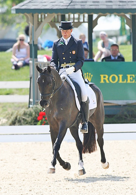 First day dressage leaders Boyd Martin and Remington XXV.
