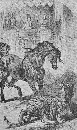 "According to accounts of the time, King George IV presented an English thoroughbred stallion to the Maharajah of Oudh. After arriving in India, for unknown reasons the horse became a notorious killer. Known as the ""Man Eater of Lucknow,"" it went on a rampage, slaying and eating the local citizens."