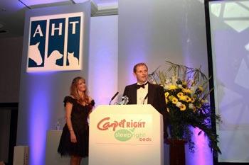Chris Pearce receiving his award