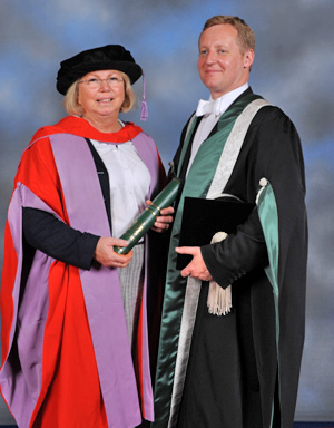 Heather Armstrong receiving an Honorary Doctorate from the Royal Veterinary College in London this week