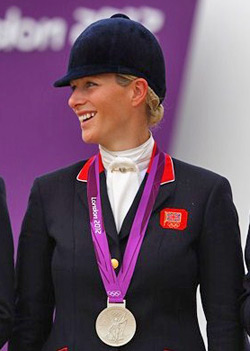 Zara Phillips: she helped her team to win a silver medal, but she's still Britain's golden girl.