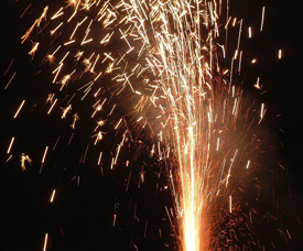 Fireworks look good but can be extremely destructive.