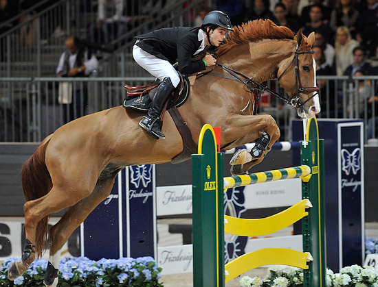 Spain's Sergio Alvarez Moya and Zipper won the fourth leg of the Rolex FEI World Cup Jumping 2012/2013 series in a thrilling 12-horse jump-off at Verona.