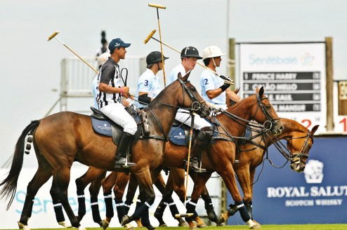 Prince Harry at last year's Sentebale polo match.