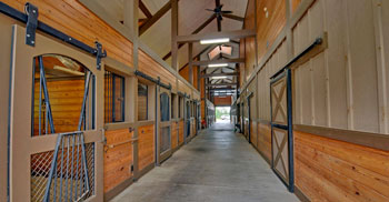 The stabling.