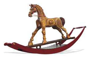 Bigger Bertie is believed to be biggest hand-carved rocking horse in the world.