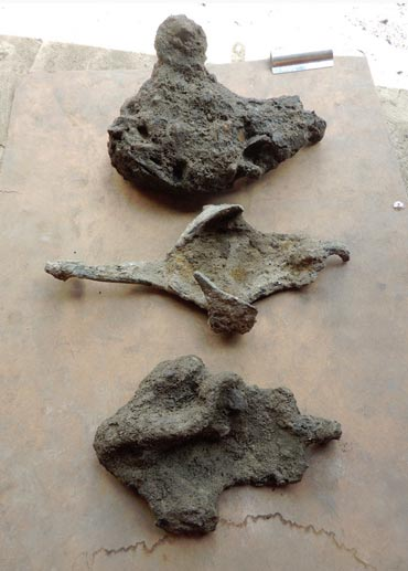 Roman Horse shoes discovered at the Liverpool Street ticket hall.