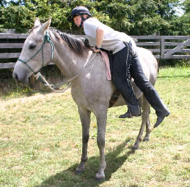 Mounting with a block is much easier on the horse.