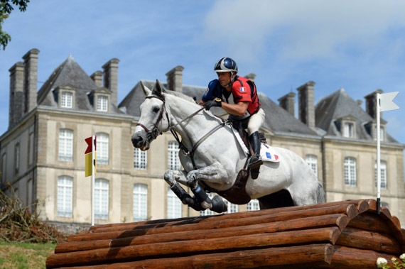 An eventer during the WEG test event in Normandy in 2013.