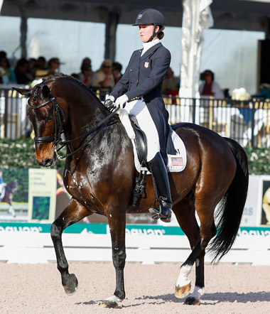 Adrienne Lyle and Wizard for USA 1.