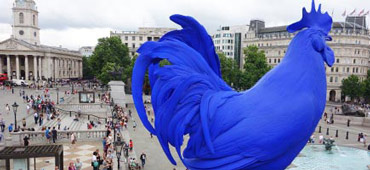 A giant blue cockerel currently graces the Fourth Plinth in Trafalgar Square. Photo: London.gov.uk