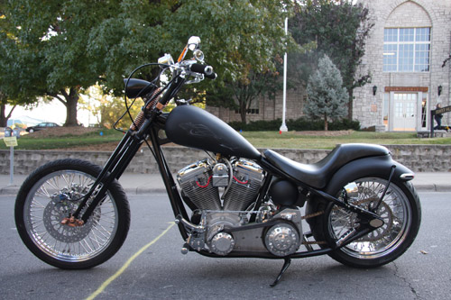 Gary Savill and Barbara Stampfli-Savill donated this custom-built motorcycle to the MU College of Veterinary Medicine to be raffled off as a fundraiser for the annual Gentle Doctor Benefit.