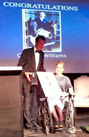 Mark Todd announces Catriona Williams as the latest inductee into New Zealand's HoY Hall of Fame.
