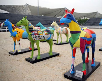 Each of the horses in The Painted Herd represents an Asian country. They will be on display during the GCT event.