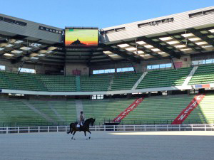 The d'Ornano Stadium in Caen welcomes horses for the WEG test events this week.