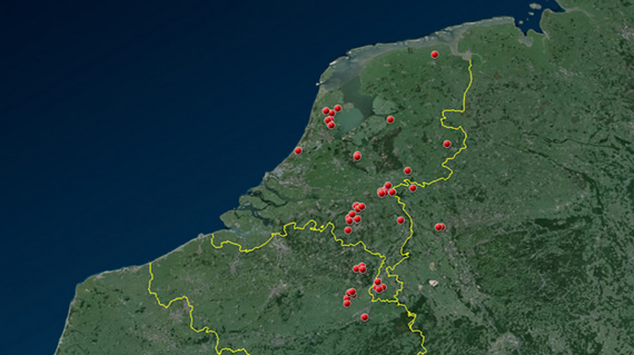 A police map showing the location of the attacks on horses.