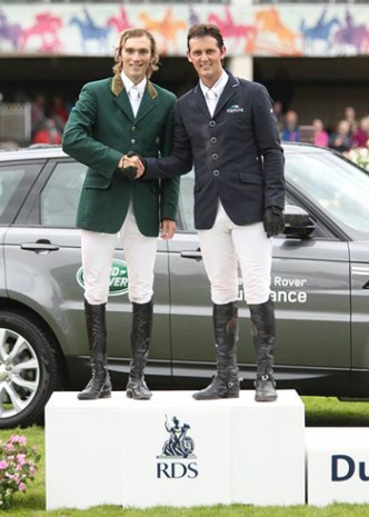 Michael Hutchinson and Billy Twomey were co-winnners of the puissance class.