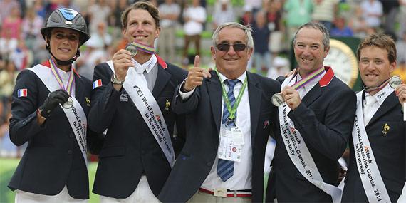 France's silver medal winning team.