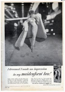 Vintage bra ad from 1958
