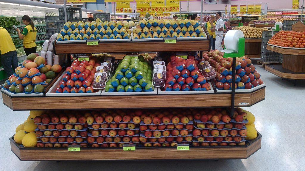 Exposição de frutas nobres