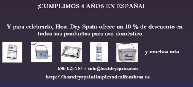 4º aniversario de Host Dry en España. ¡Oferta!
