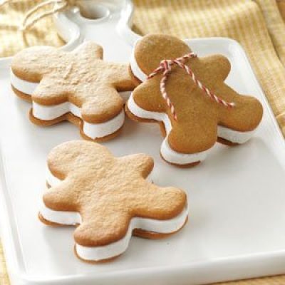 Gingerbread Ice Cream Sandwiches Recipe || 15 Gingerbread Cookies Kids ...