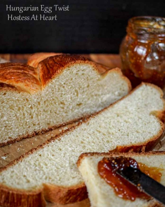 Hungarian Egg Twist bread is perfect for everyday or dressed up for a special occasion. You can sprinkle nuts or other additions to this sweetened bread or eat it as is.   HostessAtHeart.com