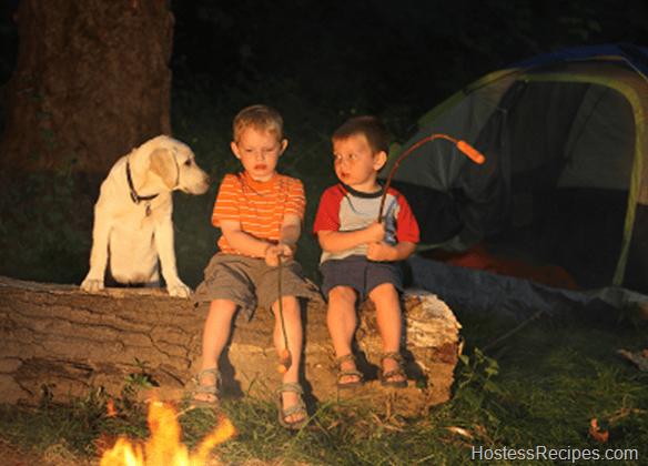kids camping eating treats recipes