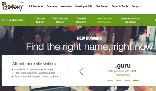 GoDaddy gTLDs