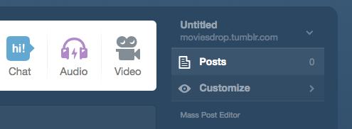 Tumblr Customize Option