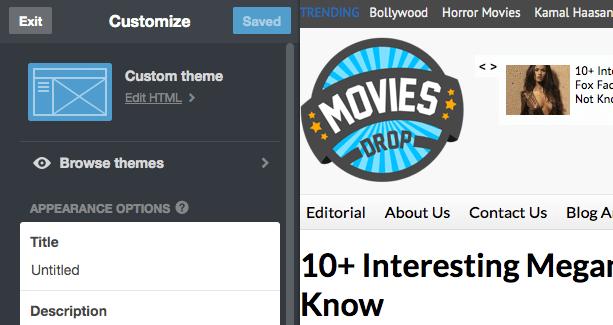 Tumblr Customize Theme