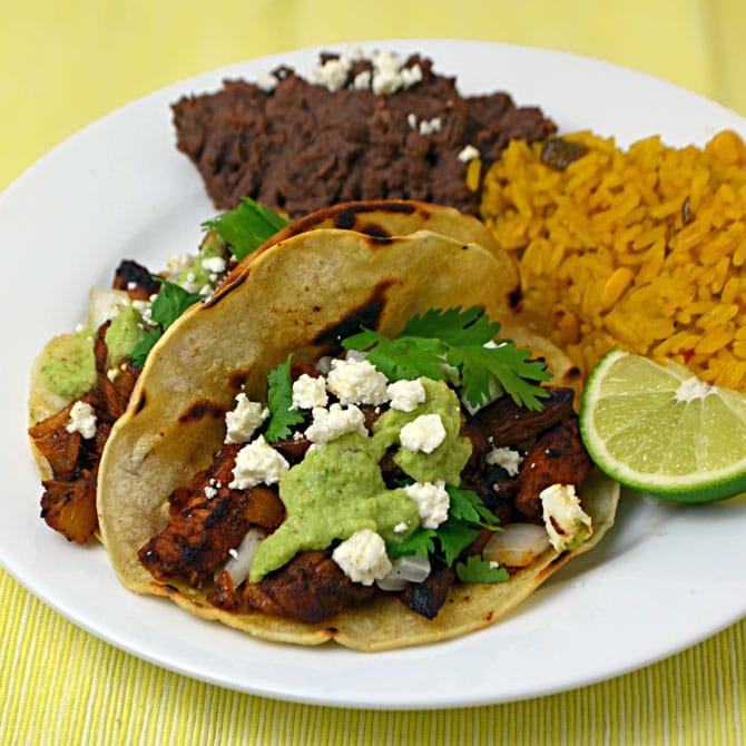 Tacos Al Pastor-- the tastiest tacos ever made.