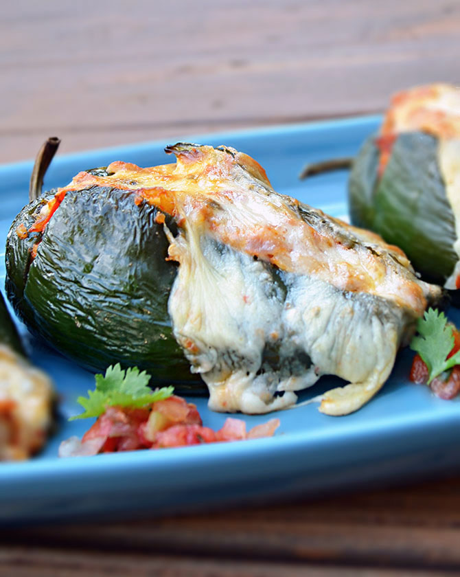 Mexican Stuffed Peppers (Chorizo-Stuffed Poblanos) - Host The Toast