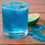 Breaking Bad Blue Margarita (with Blue Salt and Blue Ice Chips)