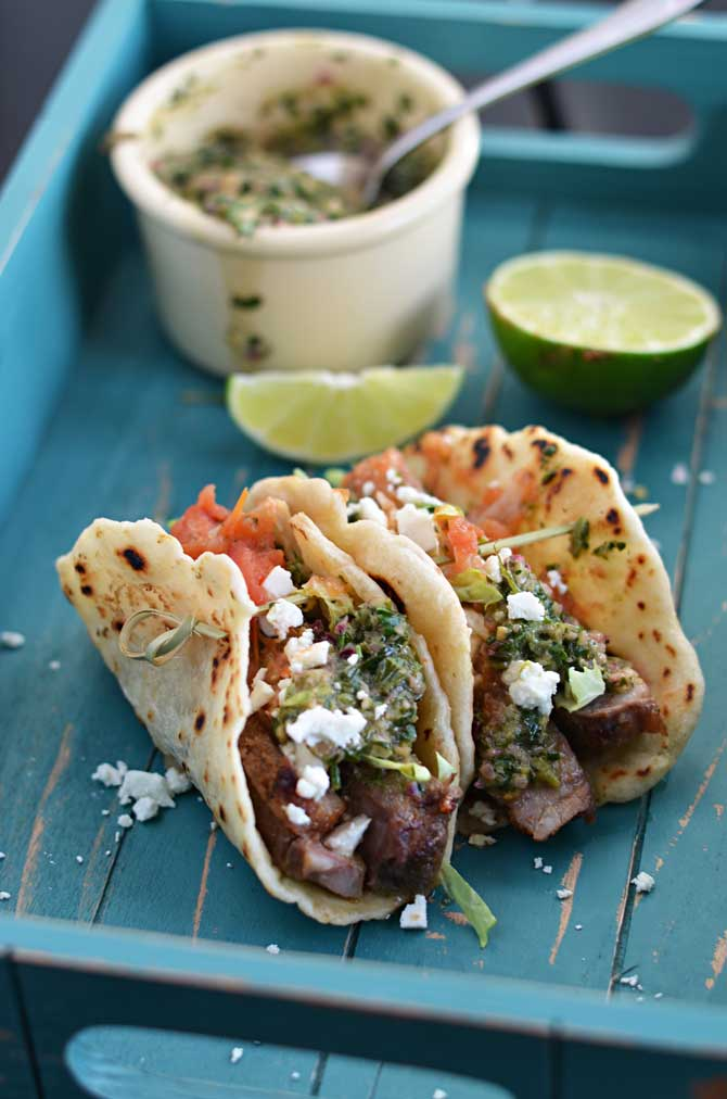 ... steak tacos chili rubbed steak tacos with chimichurri don t settle for