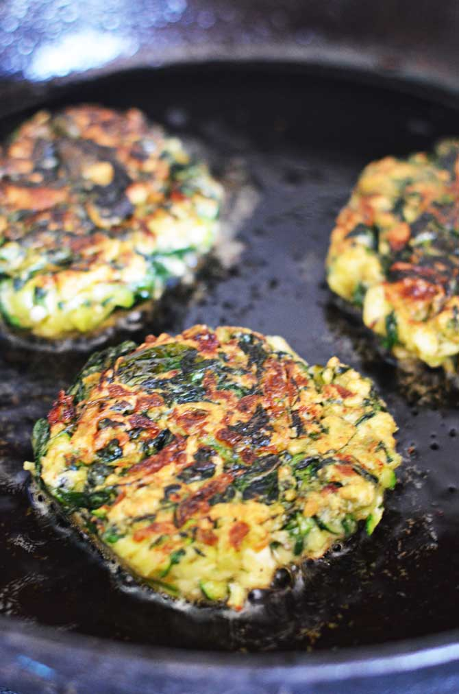 Zucchini, Feta, and Spinach Fritters with Garlic Tzatziki ...