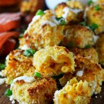 Baked Buffalo Chicken Mac & Cheese Bites