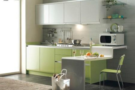 green kitchen modern interior design ideas with white cabinet