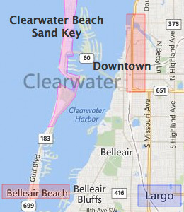 map to clearwater mall