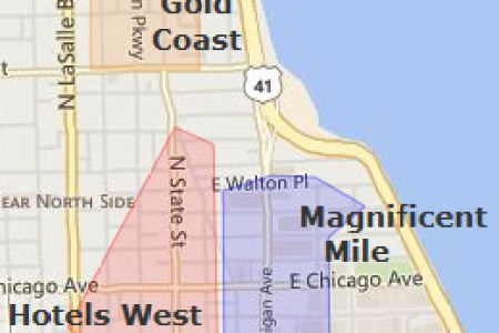 Map Of The Magnificent Mile Chicago - Chicago hotels map