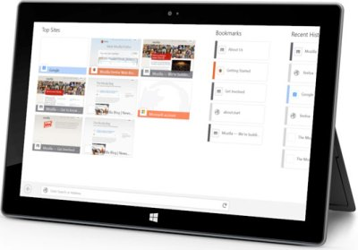 Firefox for Windows 8 Tablets