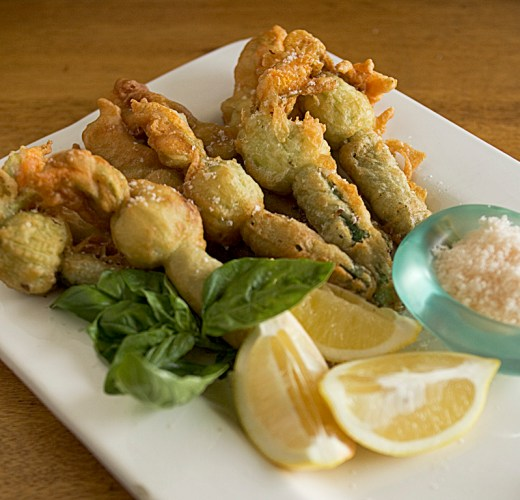 Stuffed Zucchini Flowers in Beer Batter