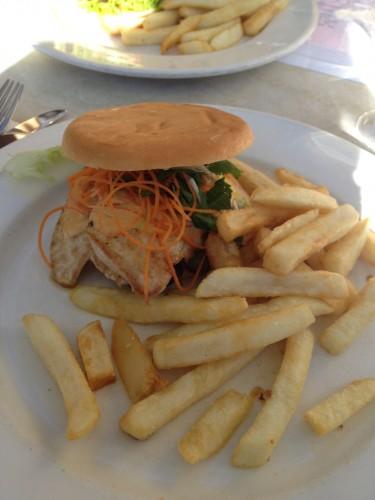 Gluten-free chicken burger