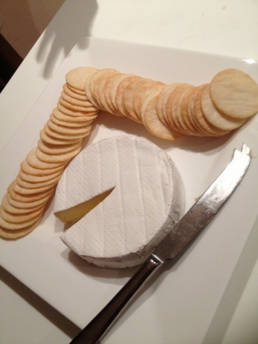 Cheese and crackers for the grande finale